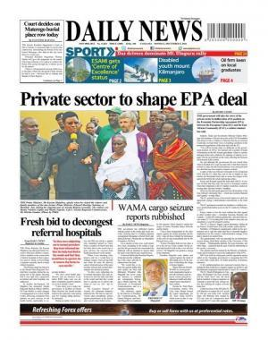 PRIVATE SECTOR TO SHAPE EPA DEAL