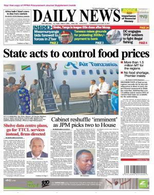 STATE ACTS TO CONTROL FOOD PRICES