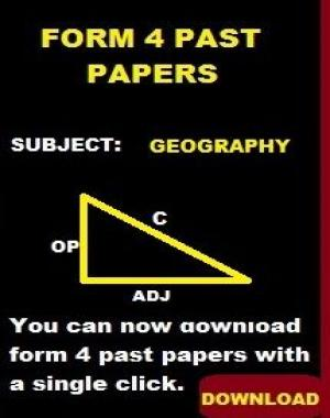 GEOGRAPHY PAST PAPERS  FORM 4