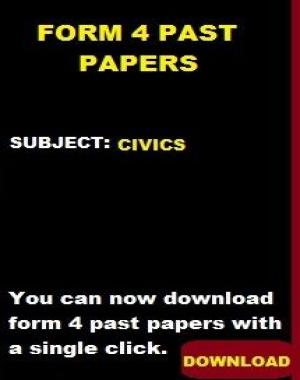 CIVICS PASTE PAPERS  FORM 4