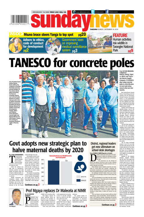TANESCO FOR CONCRETE POLES