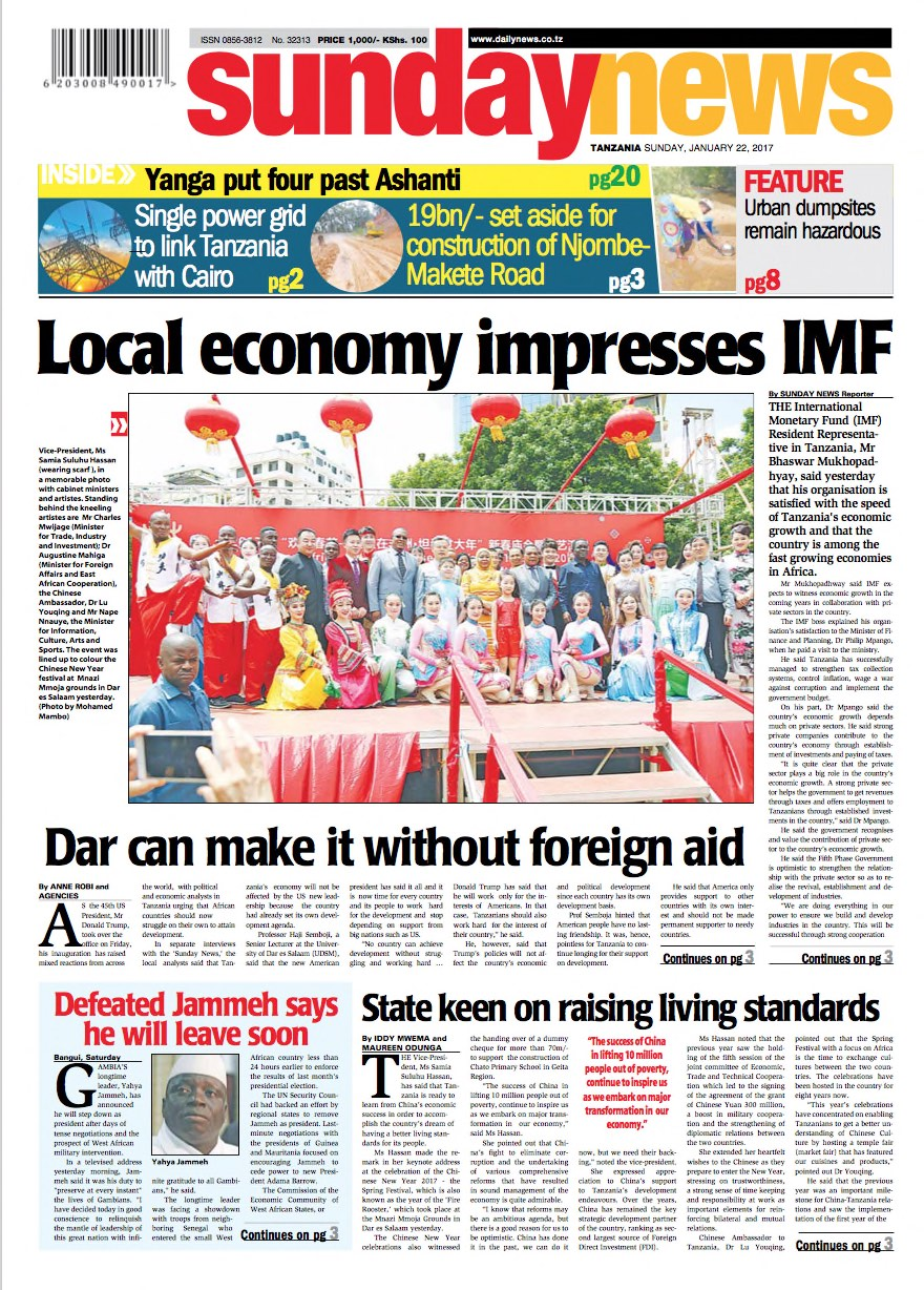 LOCAL ECONOMY IMPRESSES IMF