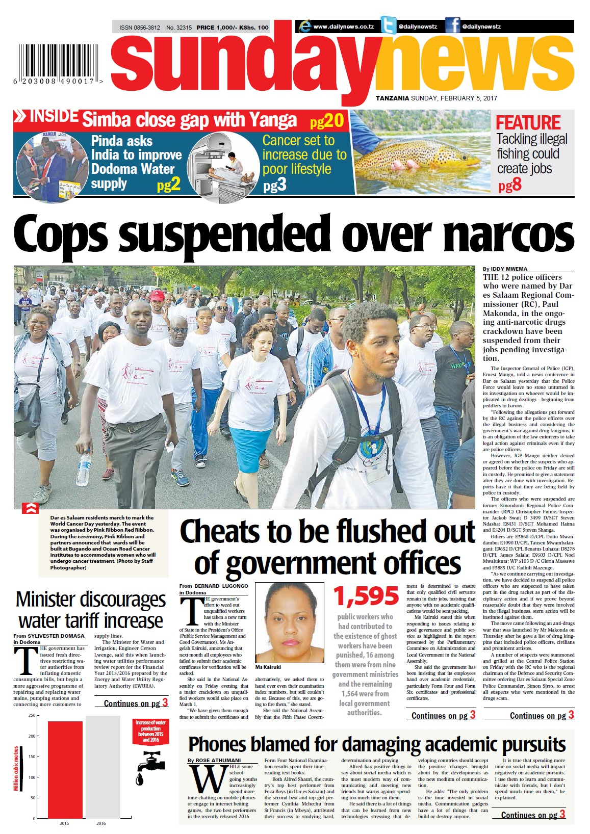 COPS SUSPENDED OVER NARCOS