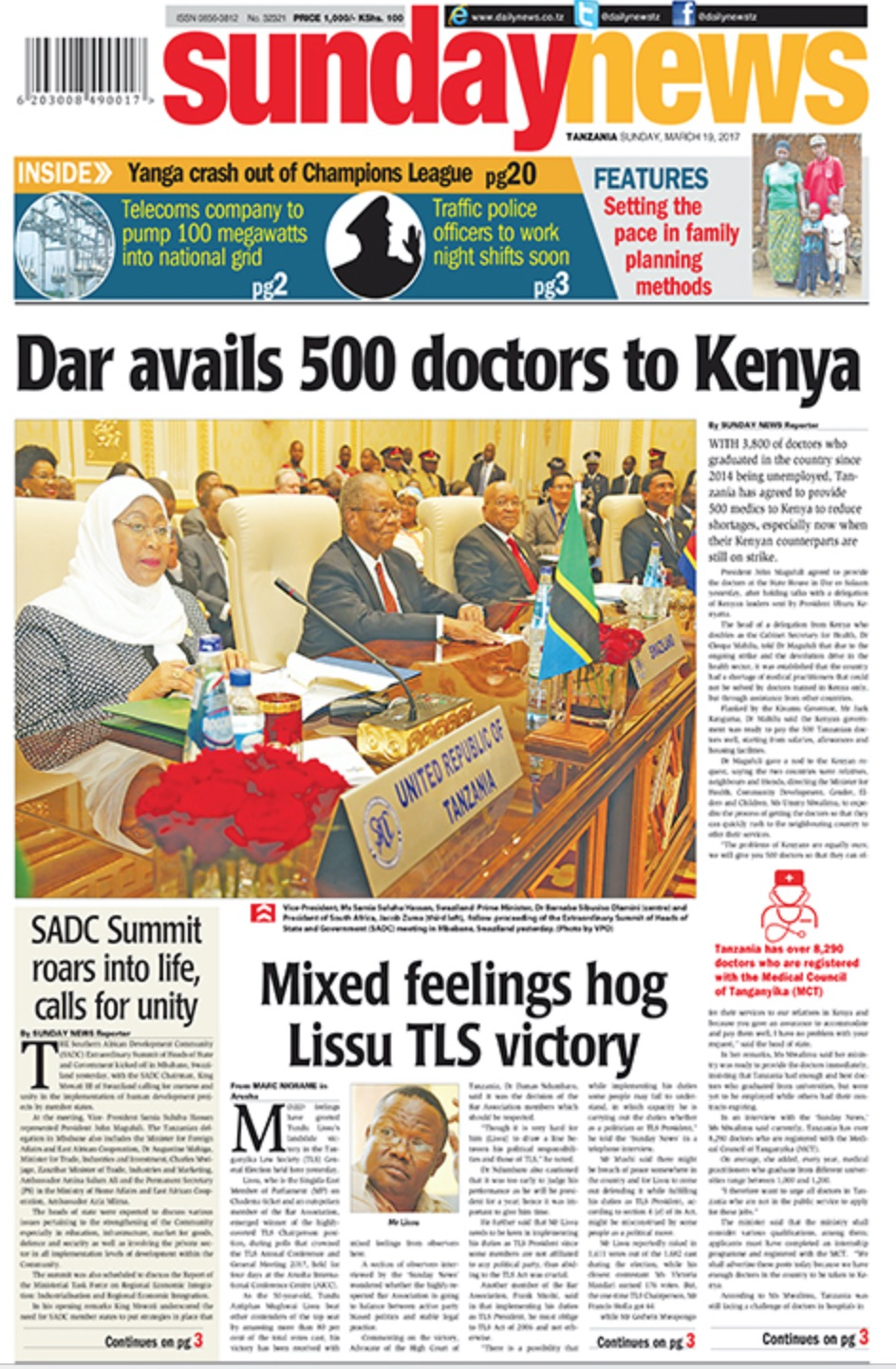 DAR AVAILS 500 DOCTORS TO KENYA