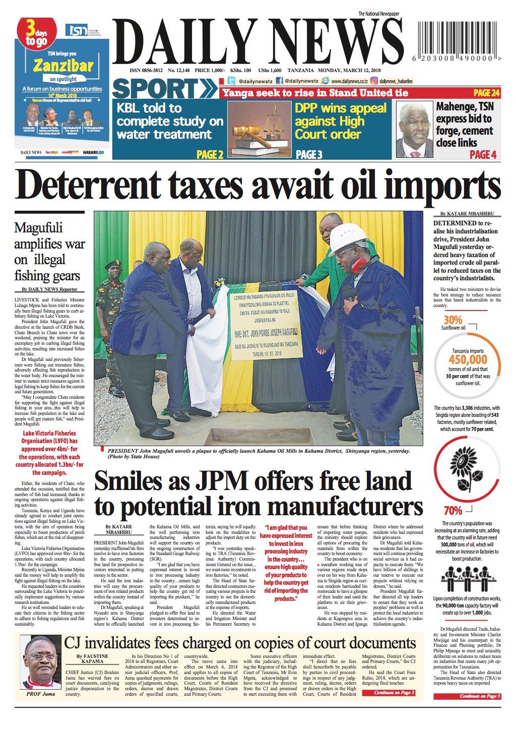 DETERRENT TAXES AWAIT OIL IMPORTS