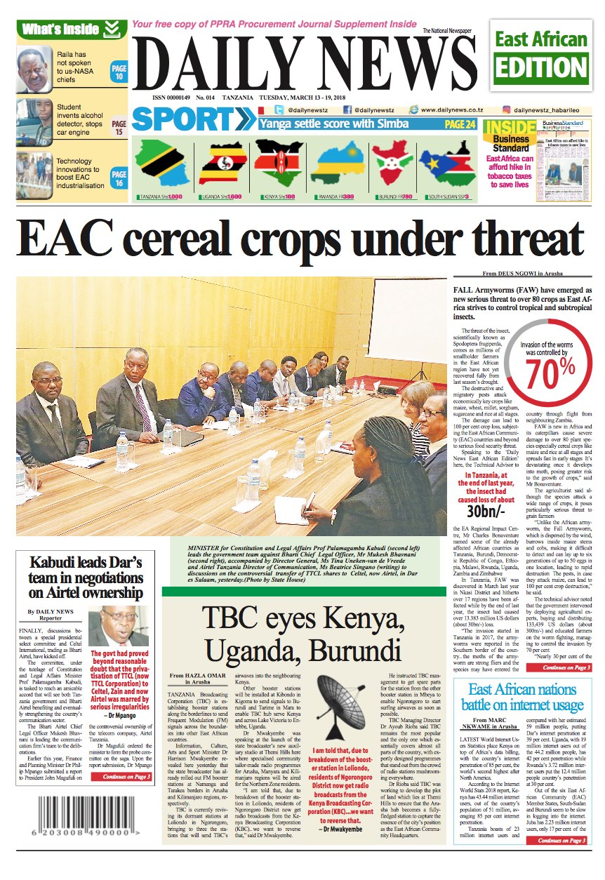 EAC CEREAL CROPS UNDER THREAT