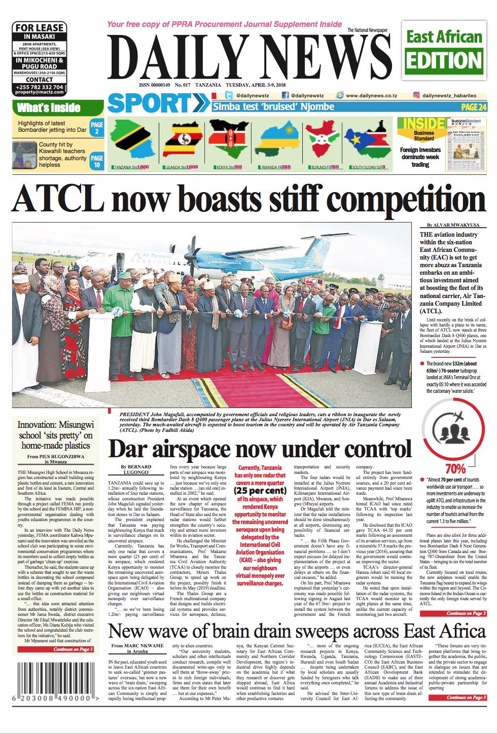 ATCL NOW BOASTS STIFF COMPETITION