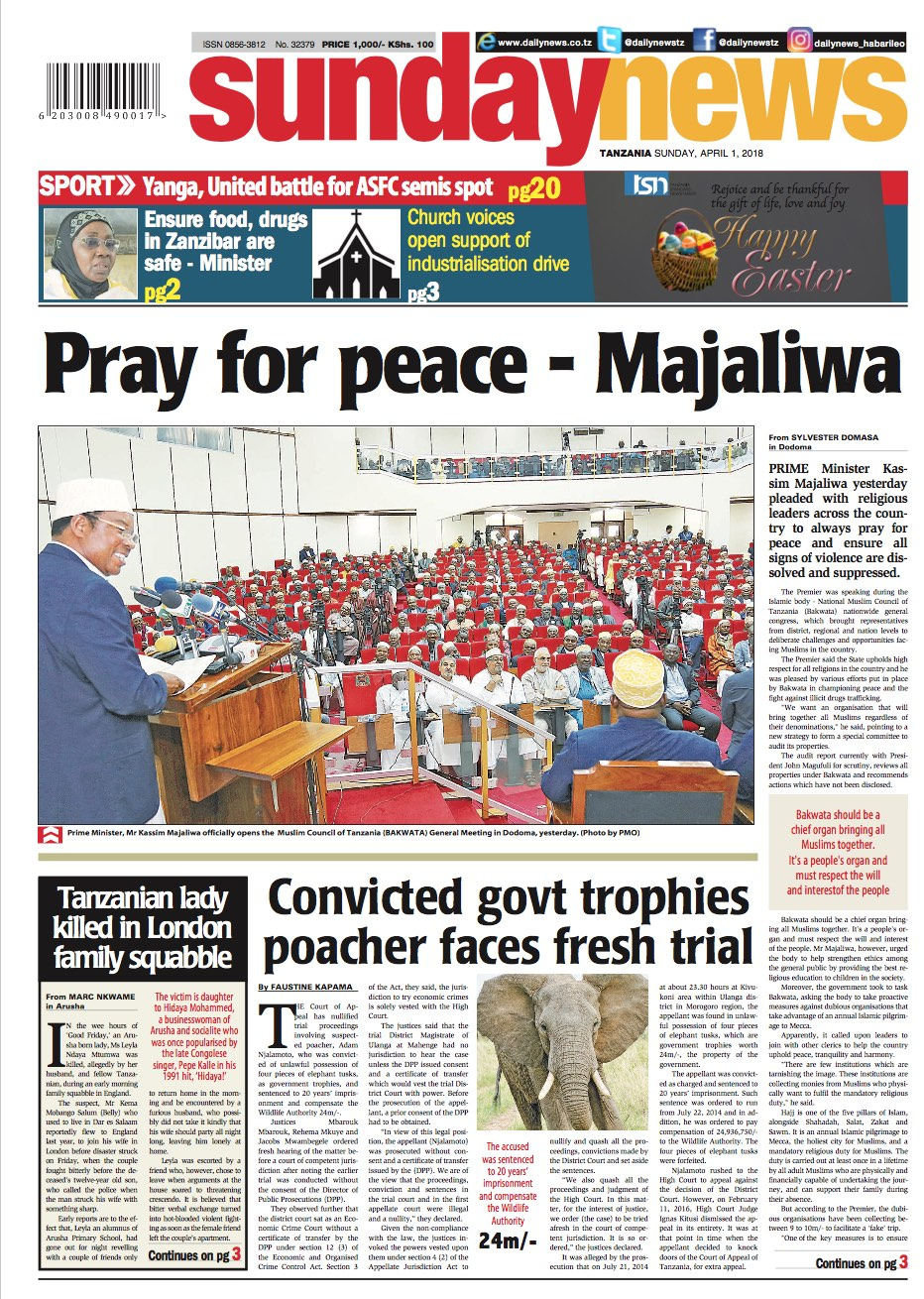 PRAY FOR PEACE   MAJALIWA