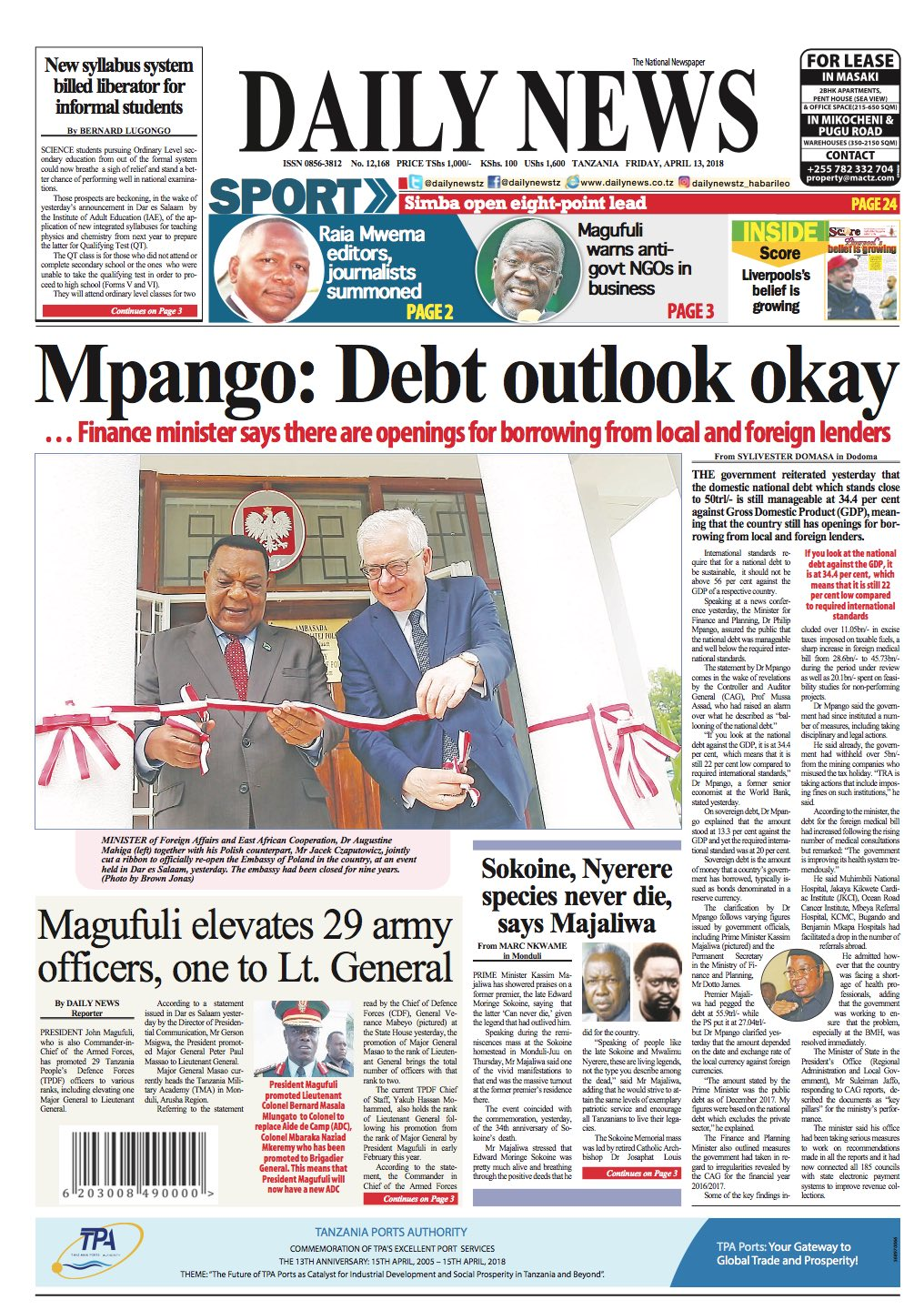 MPANGO  DEBT OUTLOOK OKAY